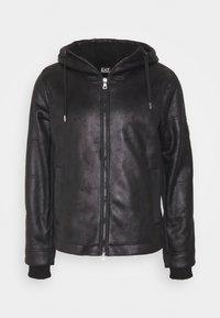 EA7 Emporio Armani - GIUBBOTTO - Leather jacket - black - 6