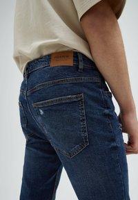 PULL&BEAR - Slim fit jeans - mottled dark blue - 3