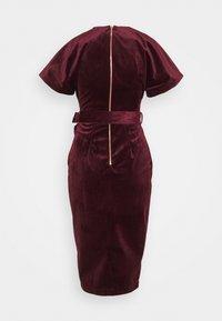 Closet - KIMONO WRAP OVER DRESS - Cocktail dress / Party dress - wine - 1