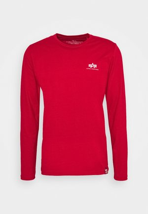 BACK PRINT HEAVY - Long sleeved top - speed red