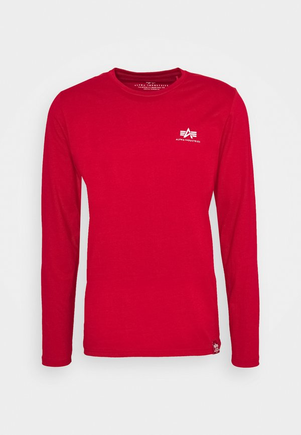 Alpha Industries BACK PRINT HEAVY - Bluzka z długim rękawem - speed red/czerwony Odzież Męska UCLO