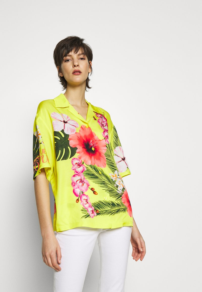 Versace Jeans Couture - LADY SHIRT - Button-down blouse - yellow