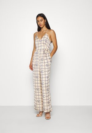 HIGH SUMMER - Jumpsuit - off white/blue