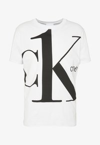 CK ONE BIG LOGO REGULAR  TEE - Triko s potiskem - bright white