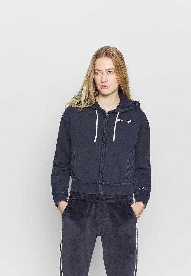 HOODED FULL ZIP - Felpa aperta - dark blue