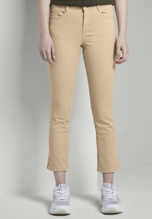 TOM TAILOR ALEXA CROPPED - Slim fit jeans - cream toffee