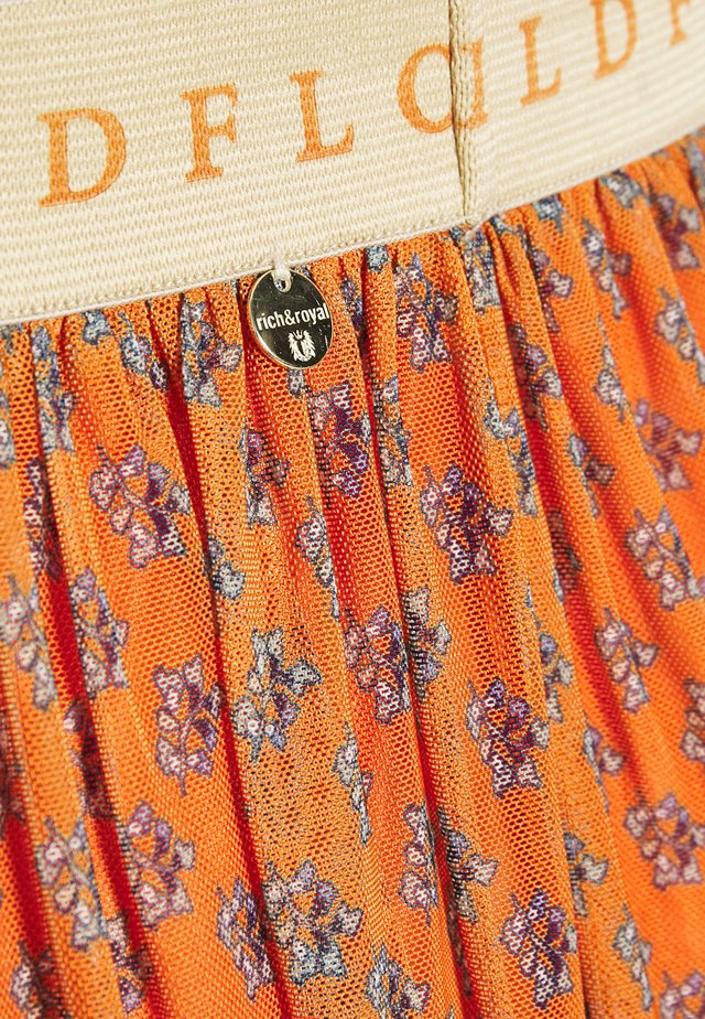 SKIRT  - A-line skirt - sunset orange