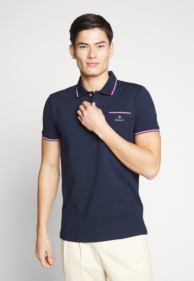TIPPING RUGGER - Poloshirts - evening blue
