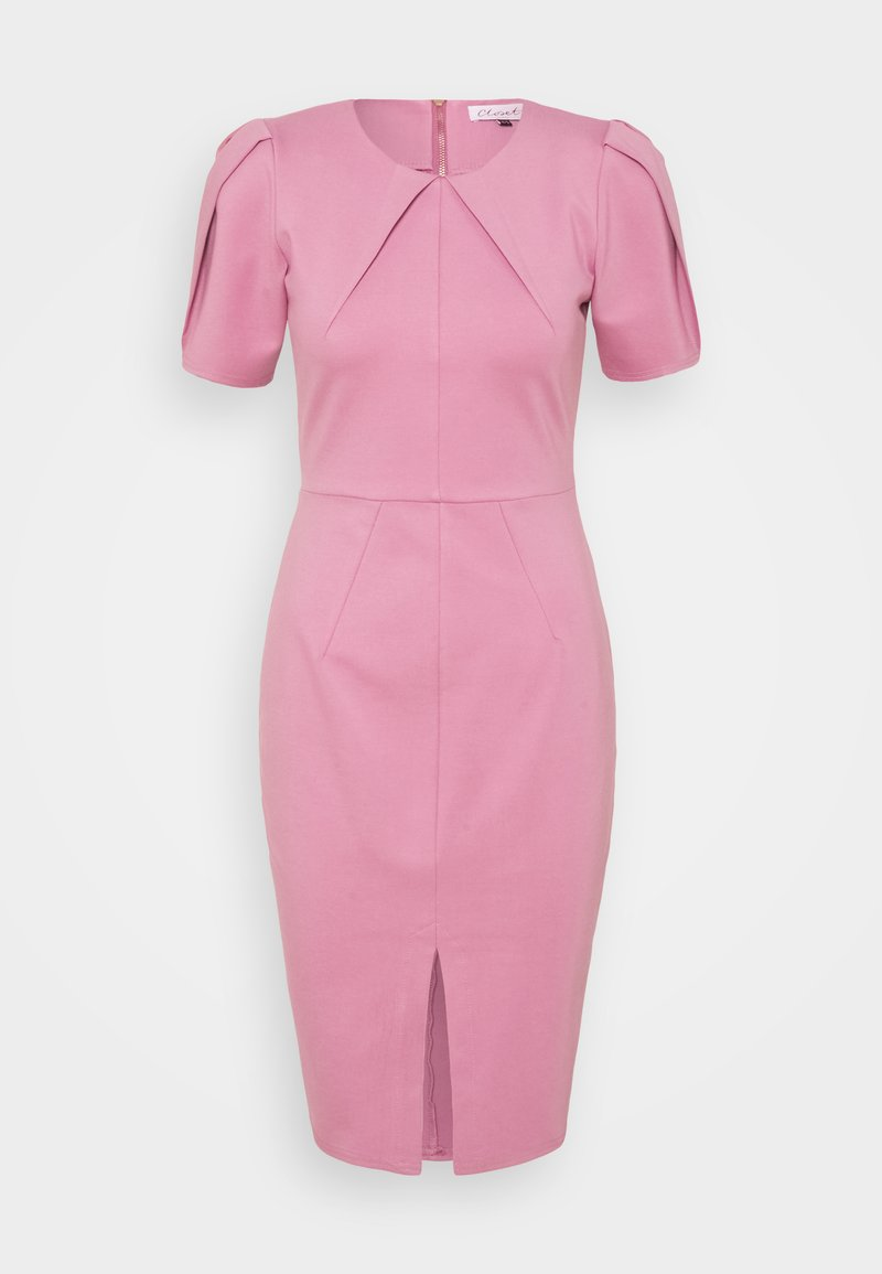Closet - PLEATED SLEEVE DRESS - Jersey dress - light pink