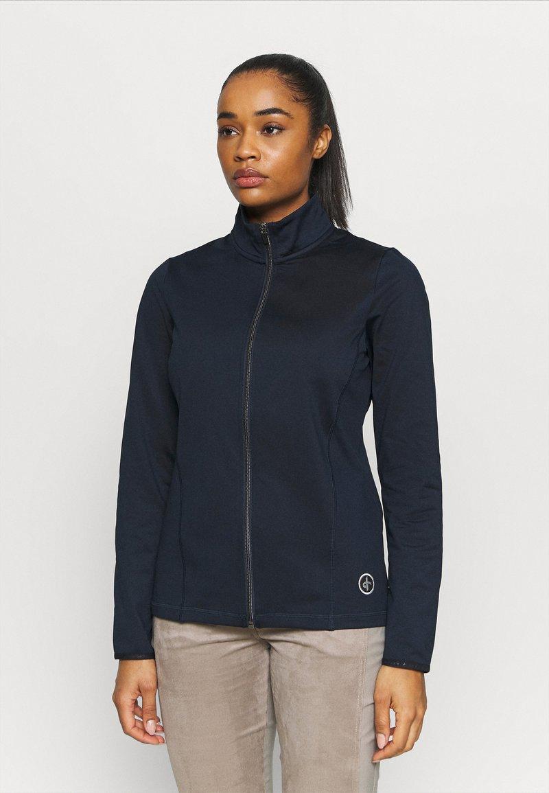 Cross Sportswear - WOMENS TECH FULL ZIP - Fleecejas - navy