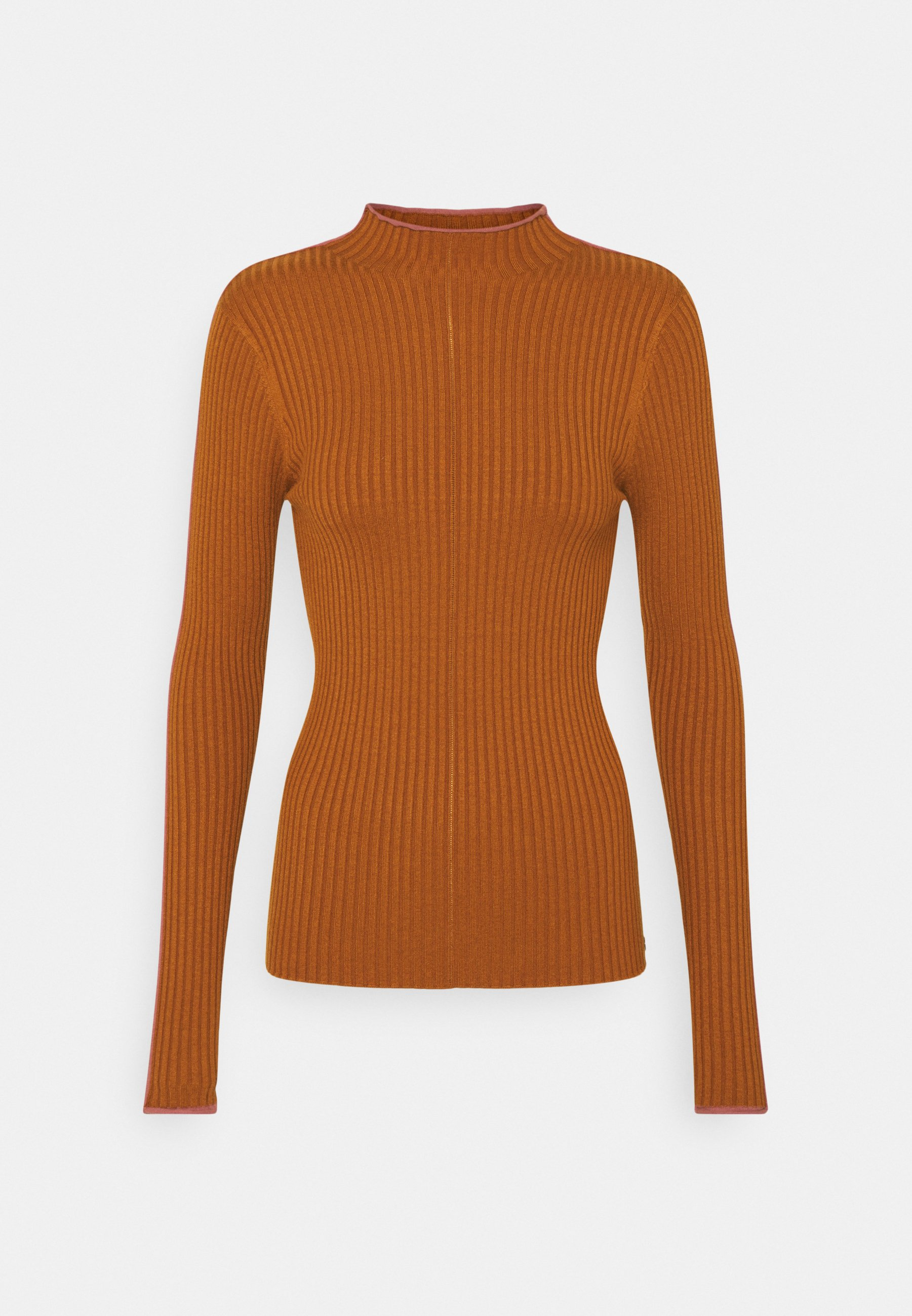 Mujer HIGH NECK WITH CONTRAST PIPING - Jersey de punto