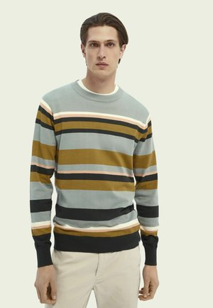 STRIPED COTTON CREWNECK - Sweatshirt - combo b