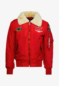 Alpha Industries - INJECTOR  AIR FORCE - Kurtka Bomber - speed red - 3