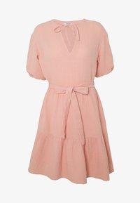 NA-KD - VNECK SHORT SLEEVE DRESS - Day dress - dusty pink - 4