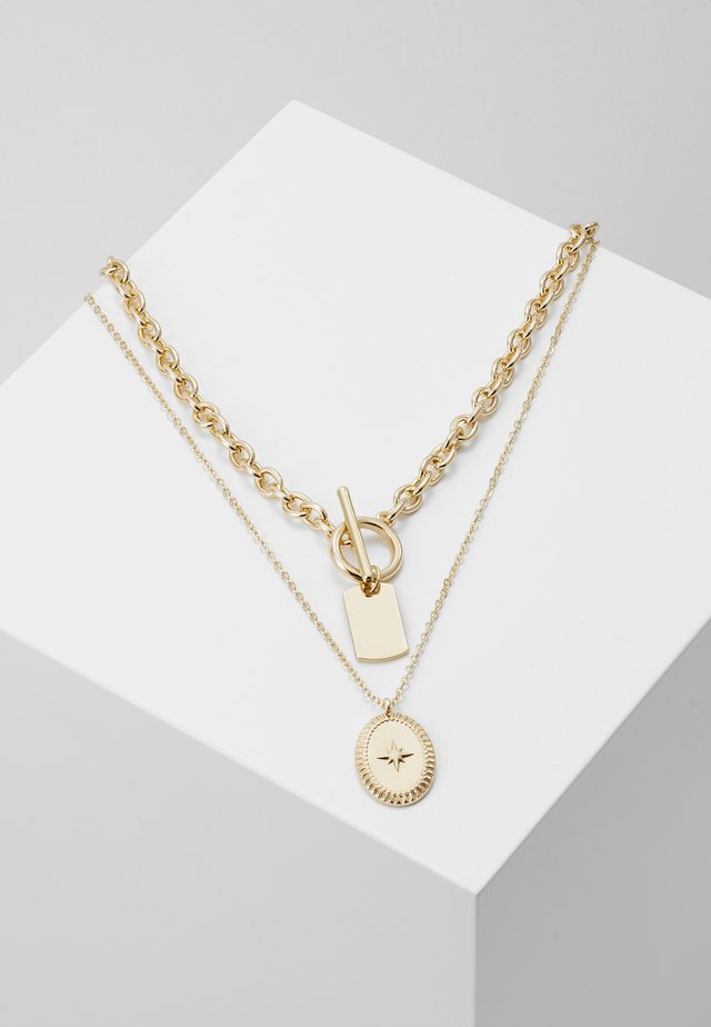 PCDUNIO COMBI NECKLACE KEY 2 PACK - Collier - gold-coloured