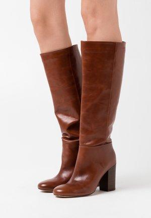 MILENA - High heeled boots - cognac