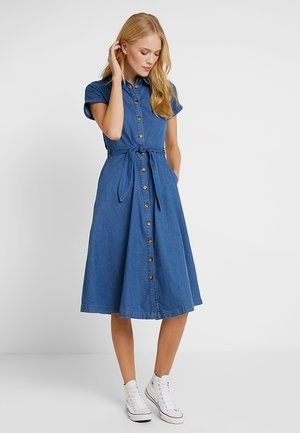 OLIVE DRESS - Denim dress - river blue