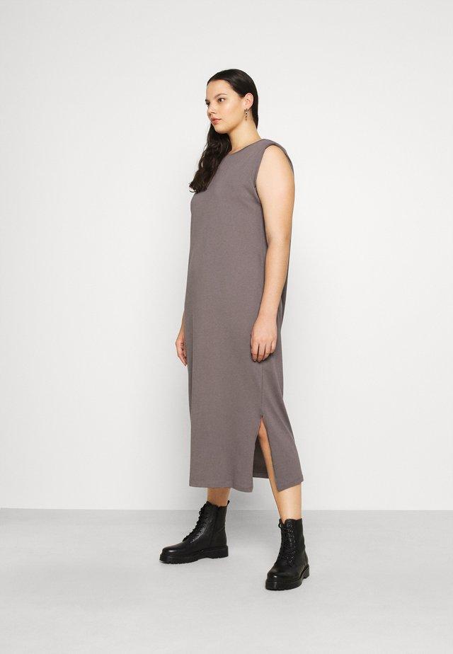 VMEDEN CALF DRESS CURVE - Vestito di maglina - tornado