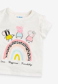 Next - PEPPA PIG RAINBOW  - Print T-shirt - grey - 2