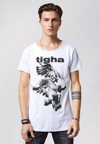 Tigha - Print T-shirt - white - 0