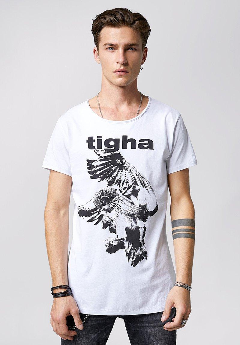 Tigha - Print T-shirt - white