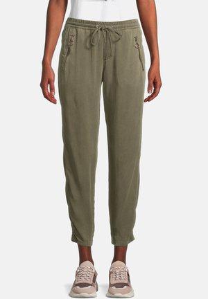 MIT REISSVERSCHLUSSTASCHEN - Pantalon classique - khaki