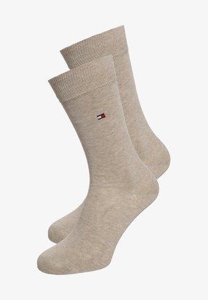MEN SOCK CLASSIC 2 PACK - Socken - light beige melange
