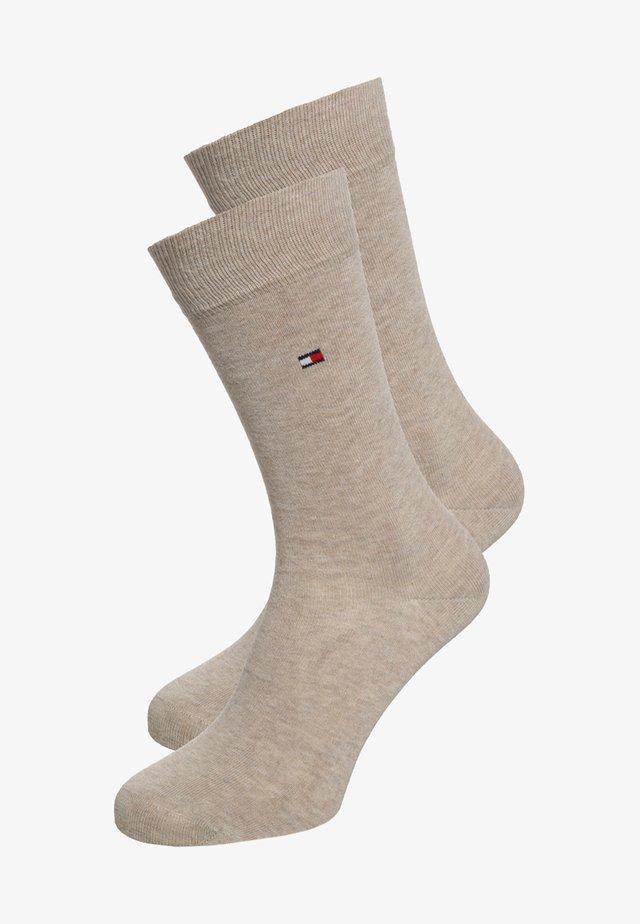 CLASSIC 2 PACK - Socks - light beige melange