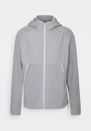 HOODIE WINTER - Fleece jacket - light smoke grey/light bone