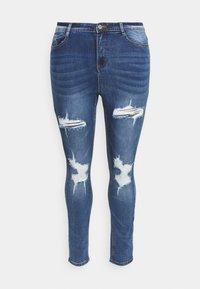 Missguided Plus - SINNER KNEE DISTRESS - Jeans Skinny Fit - blue - 0