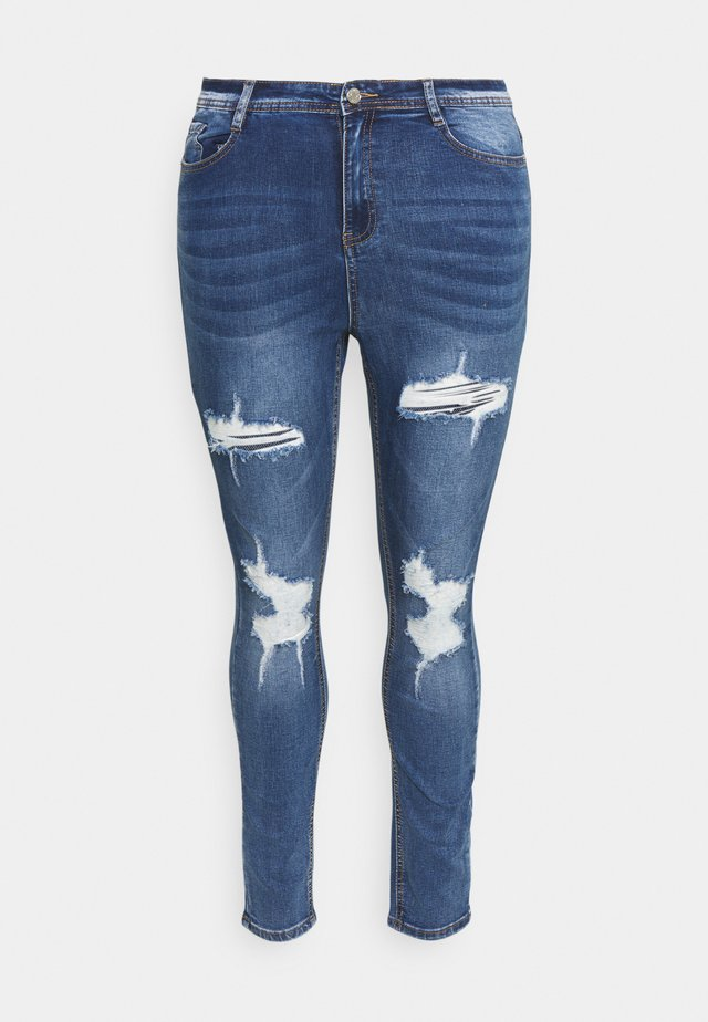 SINNER KNEE DISTRESS - Jeans Skinny - blue