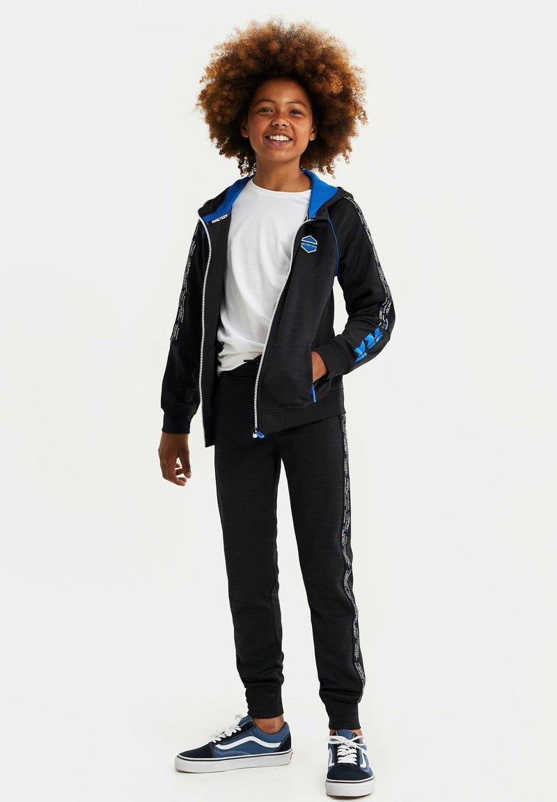 WE Fashion - MET CAPUCHON EN TAPEDETAIL - Sweatjakke /Træningstrøjer - blue