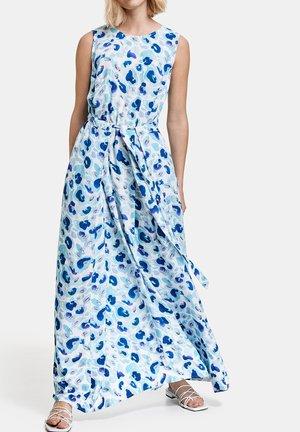 Maxi dress - blue curacao gemustert