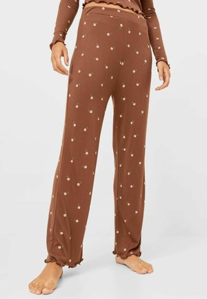 MIT BLUMENPRINT  - Pyjama bottoms - brown