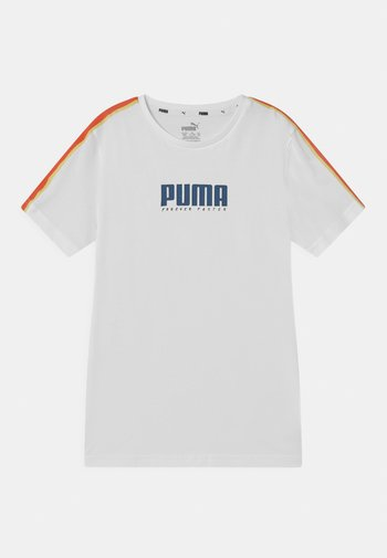 ALPHA TAPE UNISEX - T-shirt con stampa - white