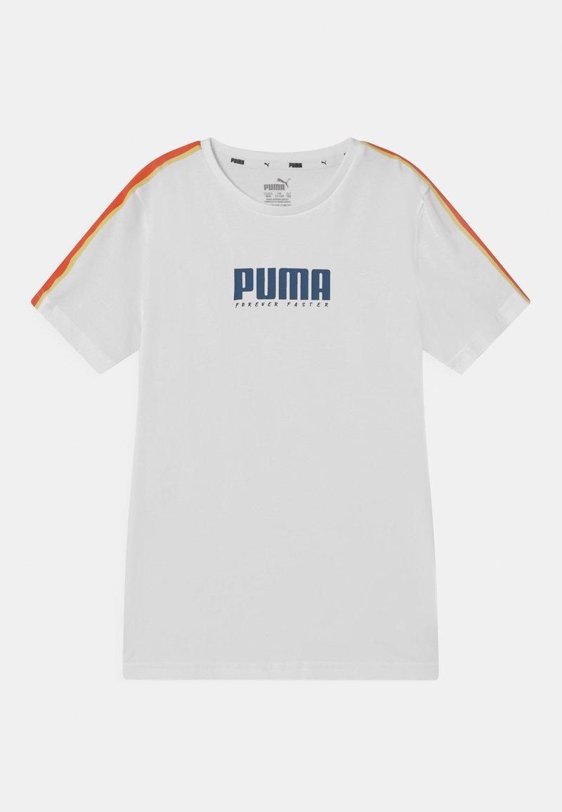 Puma - ALPHA TAPE UNISEX - T-Shirt print - white