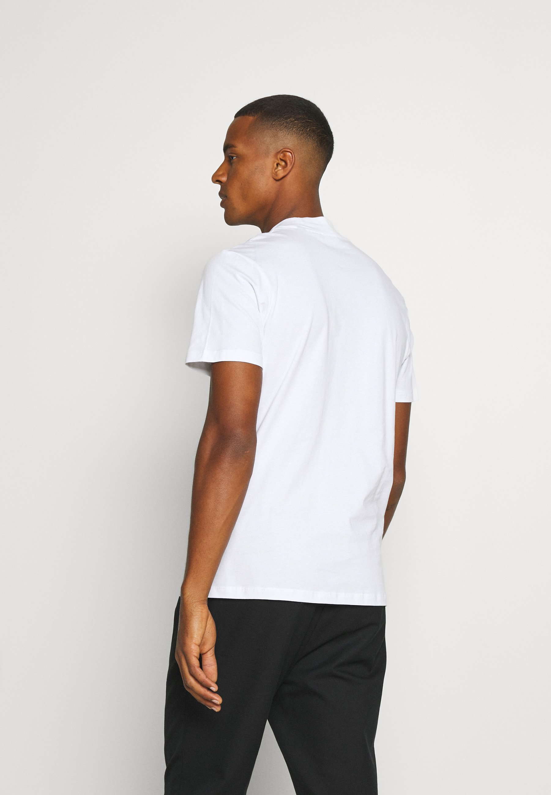 Jack & Jones PREMIUM JPRBLA BASIC TEE TURTLE 2 PACK - Basic T-shirt - white/black dwy18