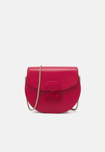 METROPOLIS MINI CROSSBODY ROUND - Across body bag - ruby
