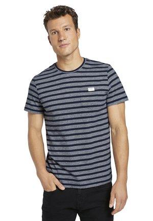 2 PACK - Print T-shirt - blue white stripe