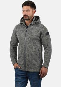 INDICODE JEANS - CHILLINGWORTH - Zip-up hoodie - mottled dark grey - 0