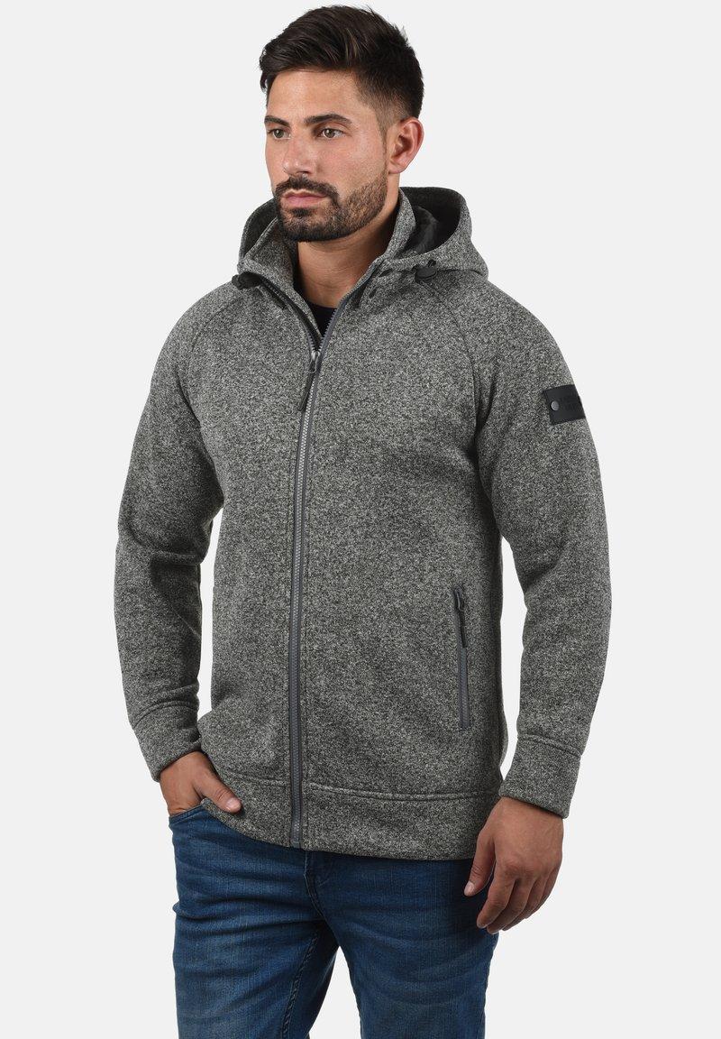 INDICODE JEANS - CHILLINGWORTH - Zip-up hoodie - mottled dark grey