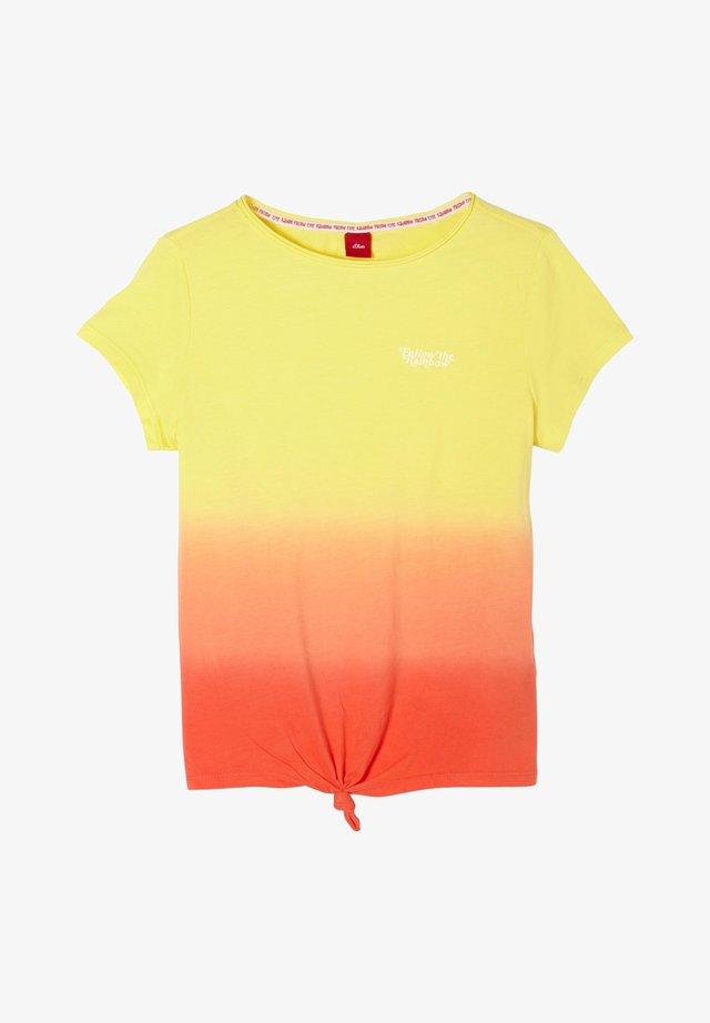 T-Shirt print - yellow/orange