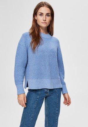 SLFBAILEY SLIT - Jumper - blue