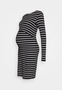 Anna Field MAMA - NURSING FUNCTION long sleeve stripe dress - Vestido ligero - black/white - 0