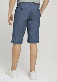 TOM TAILOR - Shorts - grey herringbone structure - 2