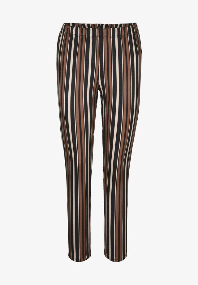 Trousers - schwarz,weiß,braun
