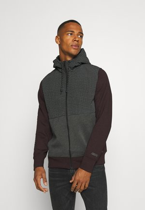 COLORBLOCK MANCHEGO - Zip-up hoodie - burgundy