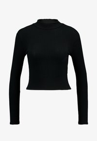 New Look - LETTUCE EDGE - Long sleeved top - black - 3