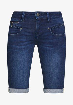 BELIXA - Jeans Short / cowboy shorts - dark blue denim