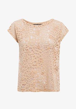 Print T-shirt - sand varied